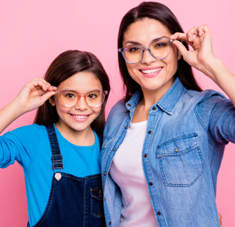 Mother and daughter with new glasses from Professional Eye Care